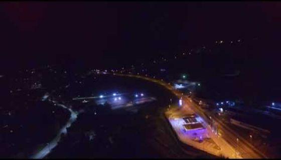 Nova Varoš noću - snimak iz vazduha
