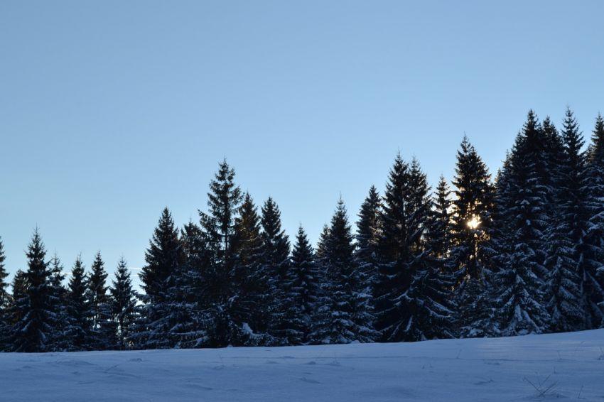 Зима на планини Златар