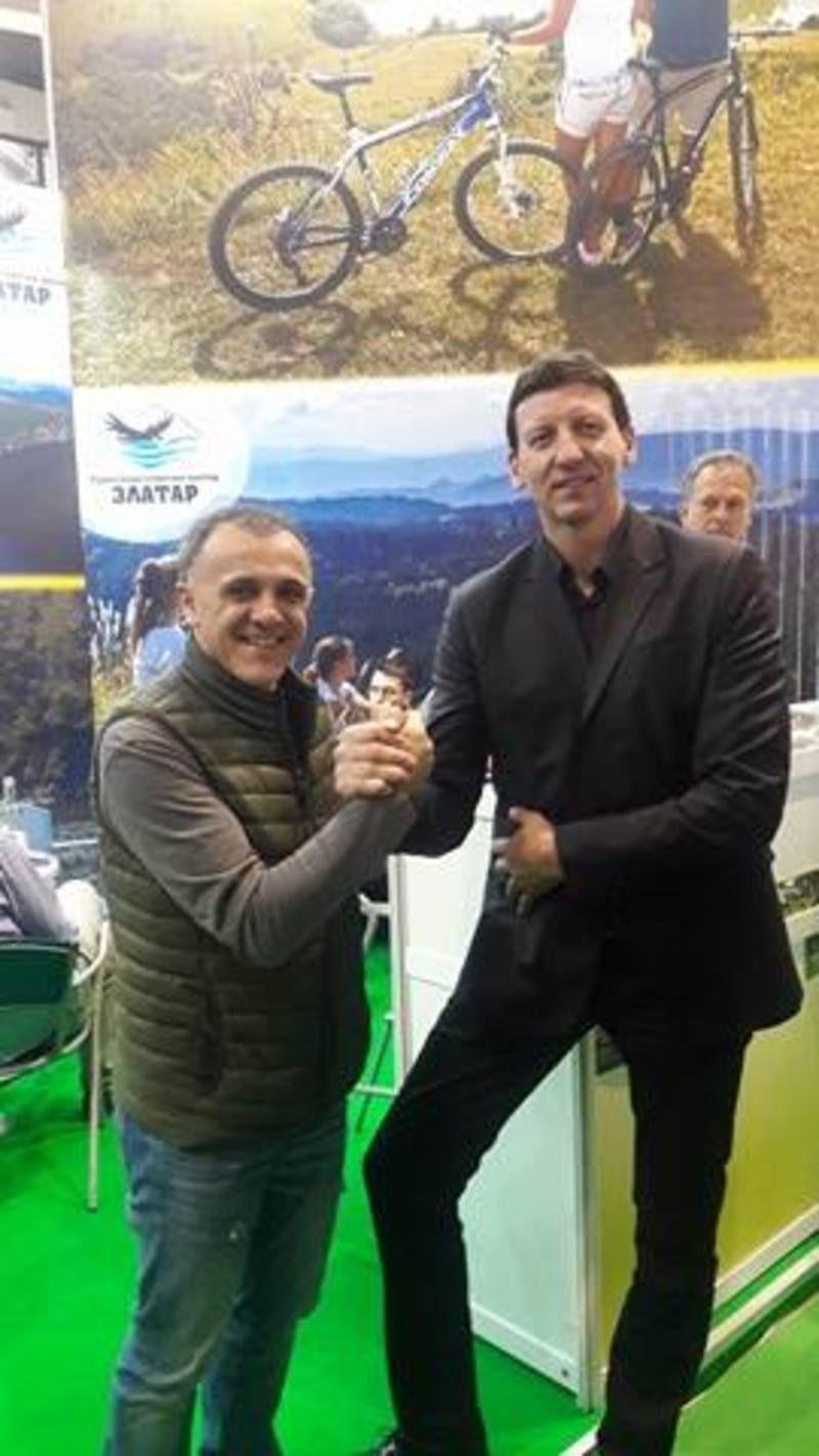 """Ljubinko Drulović za štandom TSC """"Zlatar"""""""