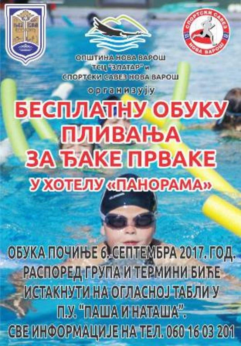 Besplata obuka plivanja