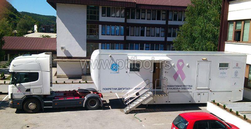 Мобилни мамограф у Дому здравља Прибој