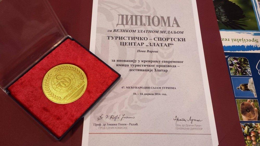 Diploma sa zlatnom medaljom za TSC Zlatar