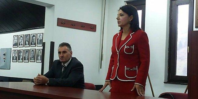 Sanda Rašković Ivić i Zoran Đokić (opštinski odbor DSS-a u Novoj Varoši)