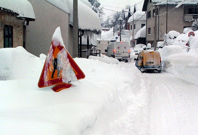 Sneg u Novoj Varosi