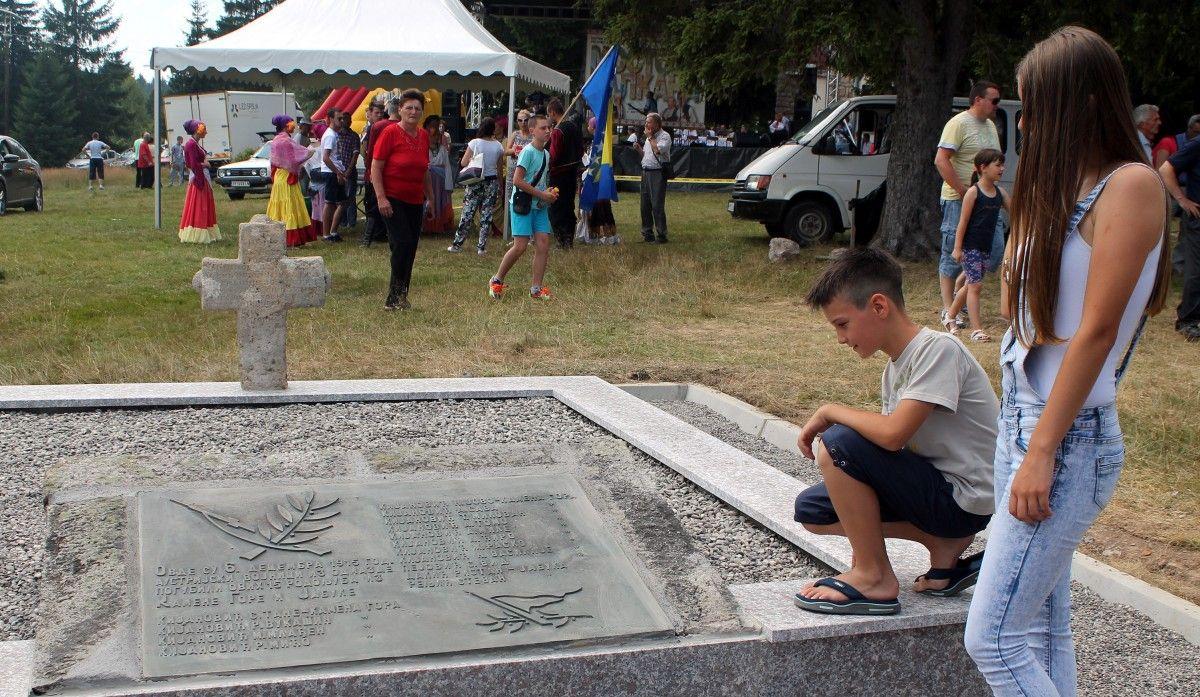 Споменик на месту злочина аустроугарских војника на Јабуци
