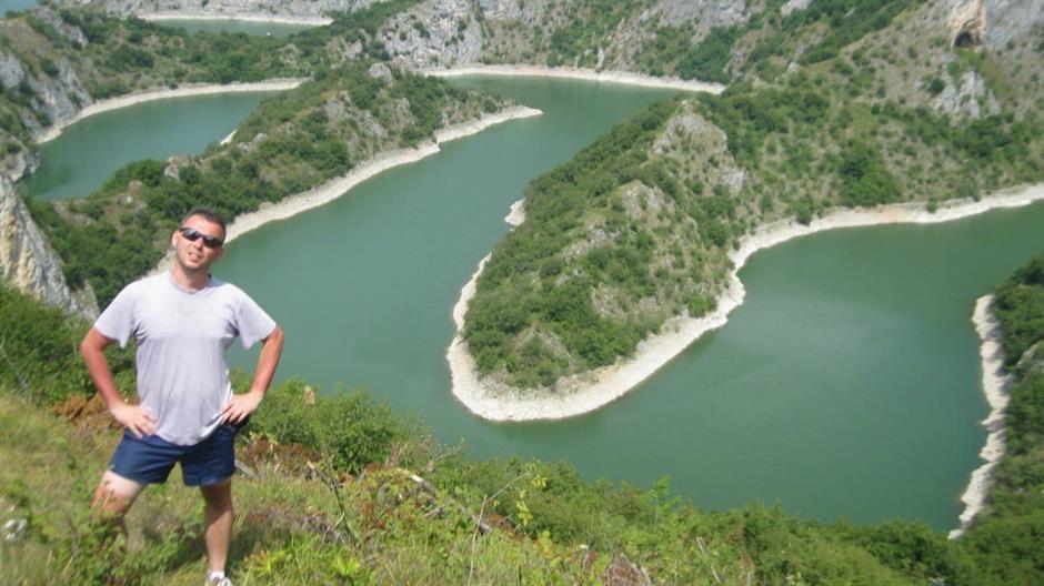 Bane Grković u kanjonu Uvca