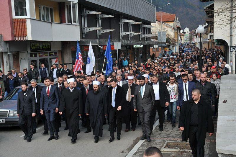 Америчка и ЕУ застава у Пријепољу