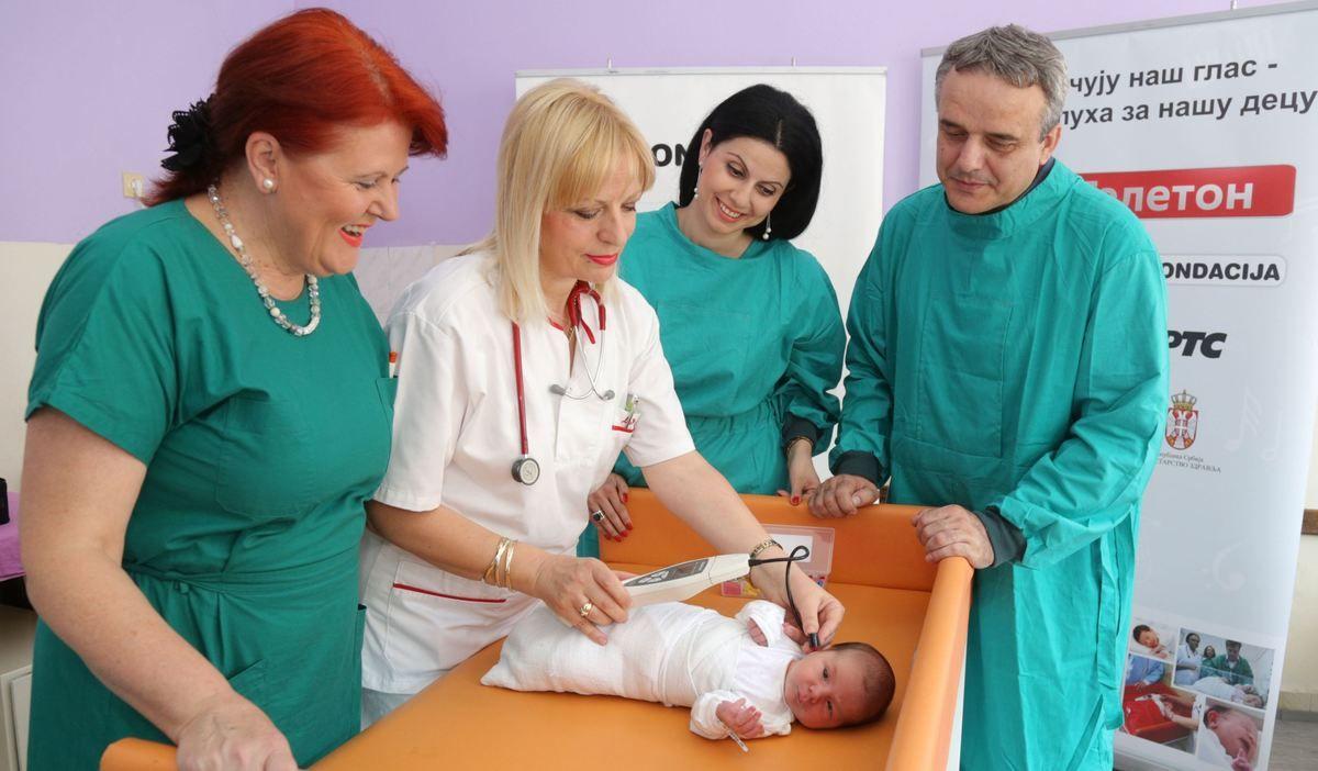 Porodilišta u Prijepolju i Priboju dobila aparate za proveru sluha kod beba