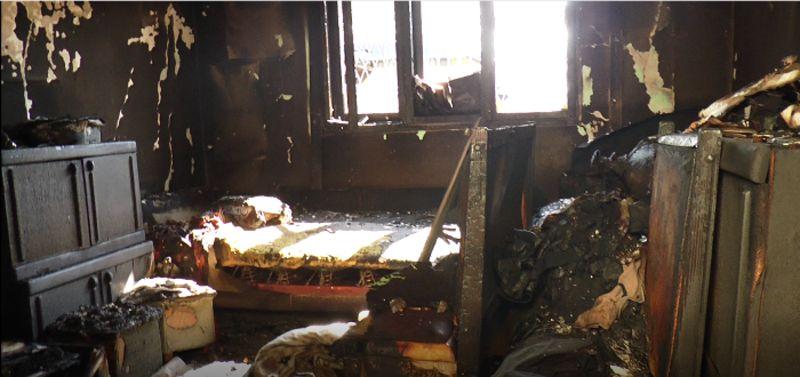 Згариште након јутрошњег пожара у Љубићу,