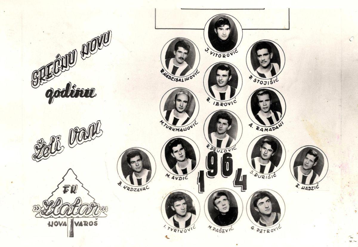 Честитка ФК Златар из 1964, године