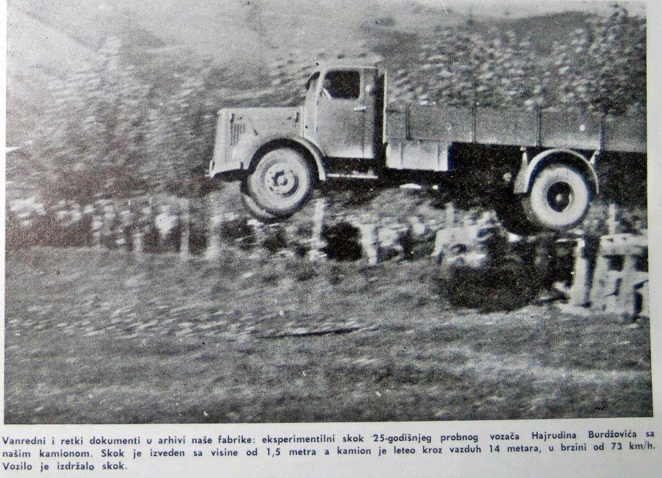 Кад  Хајрудин полети са ФАП-ом: Овако је некад у Прибоју рађен краш тест за легендарни камион