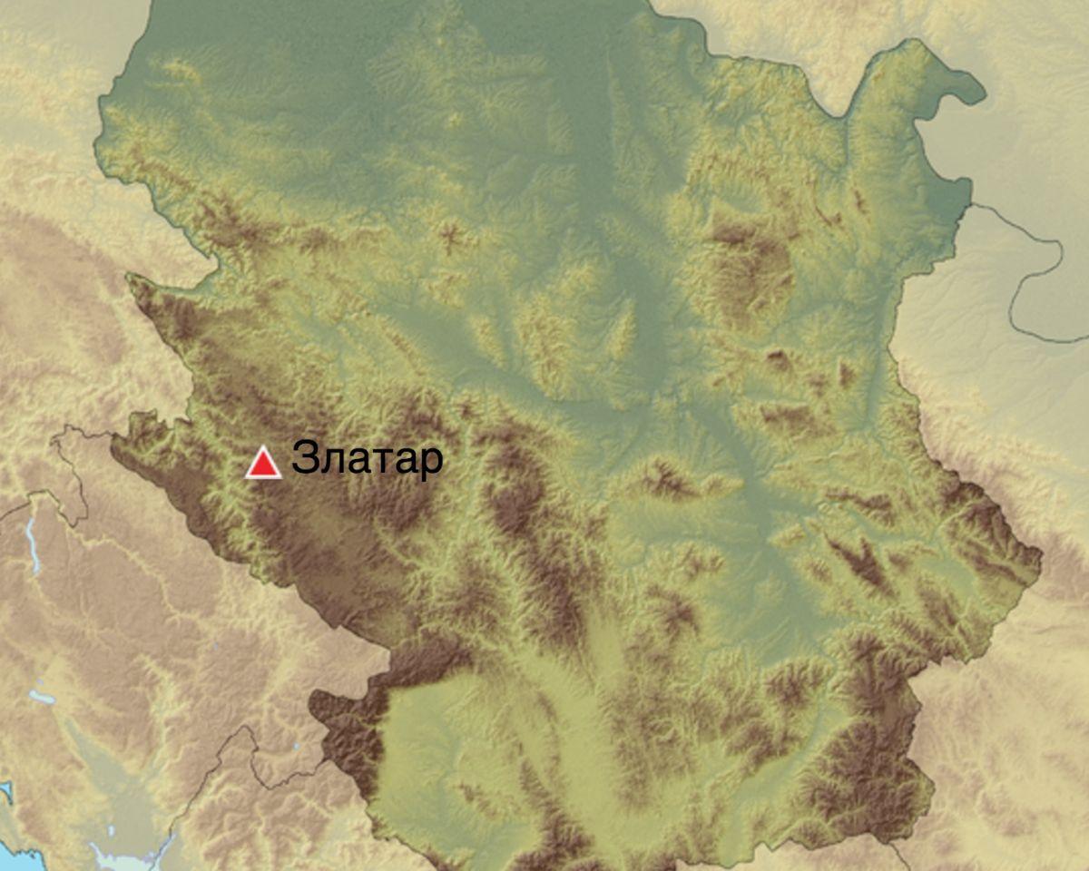 Планина Златар (мапа)