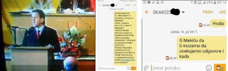 Медо Мекић није одговорио на постављена питања новинара, фото: Глас западне Србије