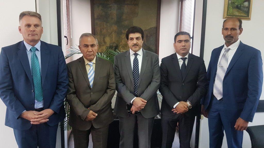 Радосав Васиљевић са амбасадорима Либије, Кувајта и Палестине