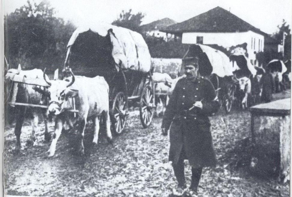 Комора Српске војске у маршу 1912. године
