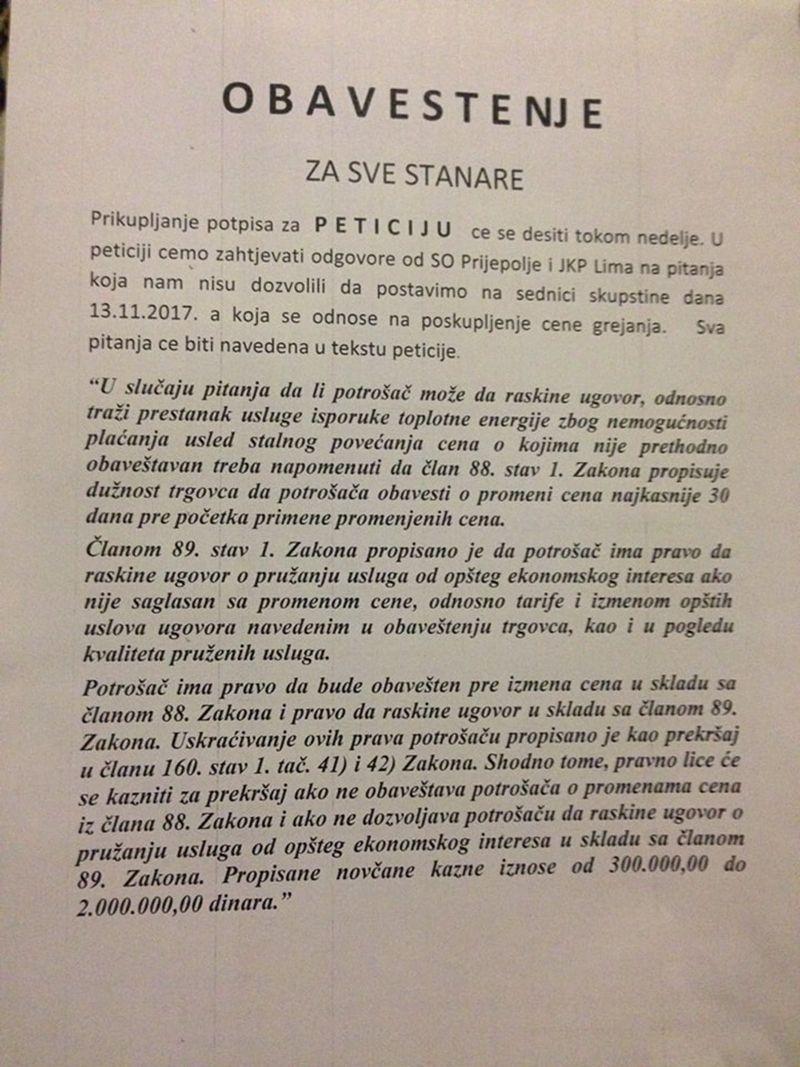 Позив за прикупљање потписа, фото: Глас западне Србије