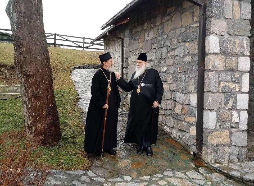 Епископ милешевски Атанасије и умировљени владика Филарет