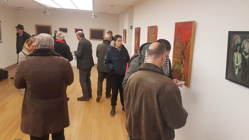 Бројна публика током отварања изложбе