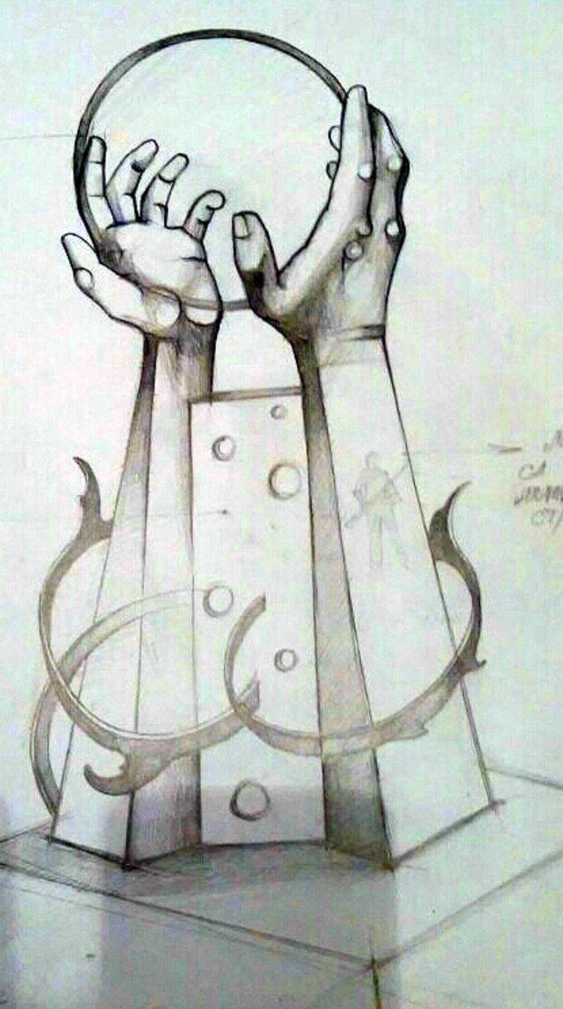 Поруке генерацијама,  скулптура  Мир  сликара Боривоја Јовановића