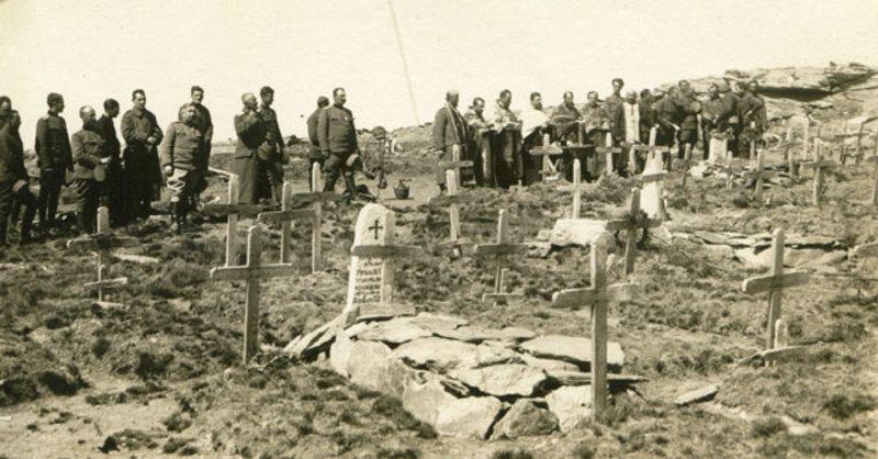 Парастос погинулим ратницима на Кајмакчалану 1916.