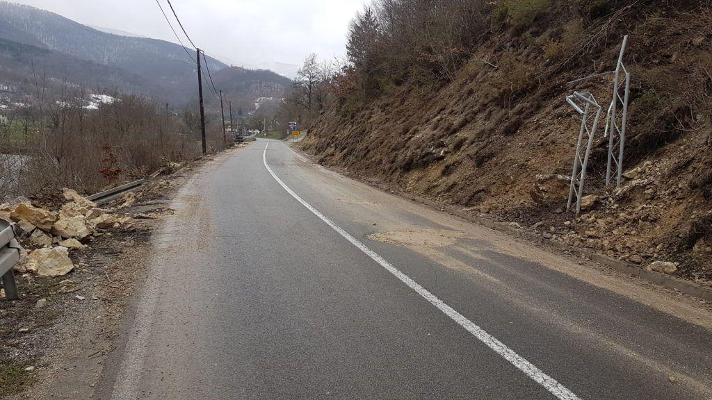 Место где је возач камиона изгубио живот