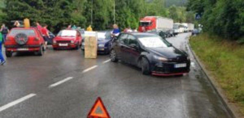 Пријепоље - блокада пута