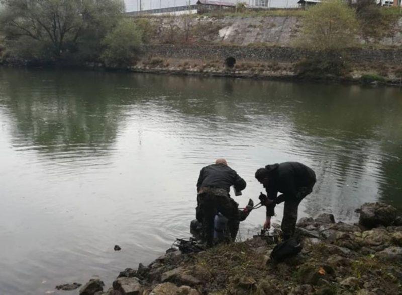 Место где је рибар Верољуб Симовић упао у реку