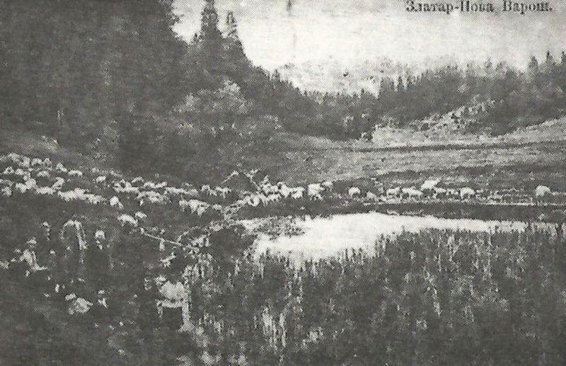 Милан Борисављевић са посетиоцима планине 1928.