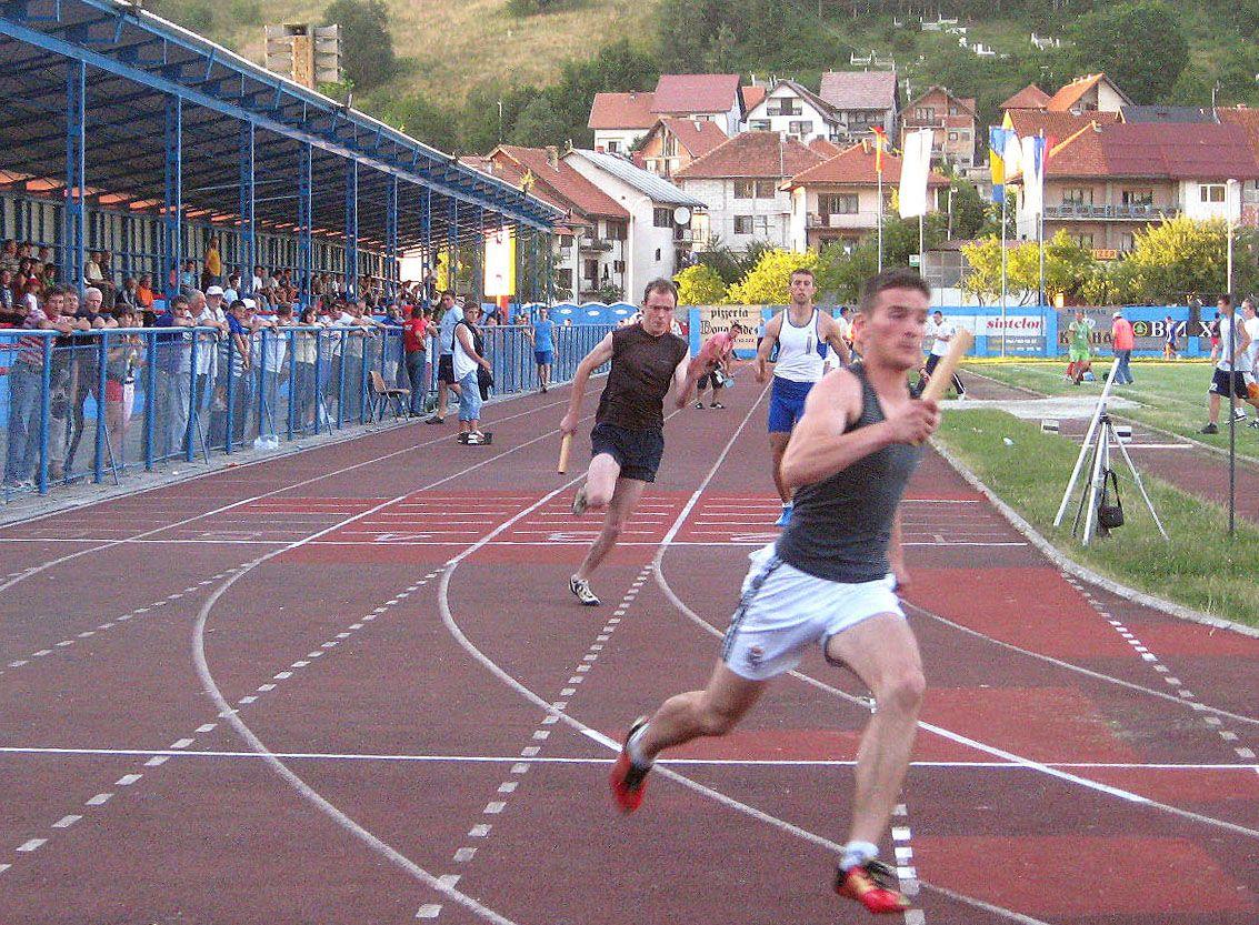 Трка, штафета 4x100 на 45. МОСИ у Новој Вароши