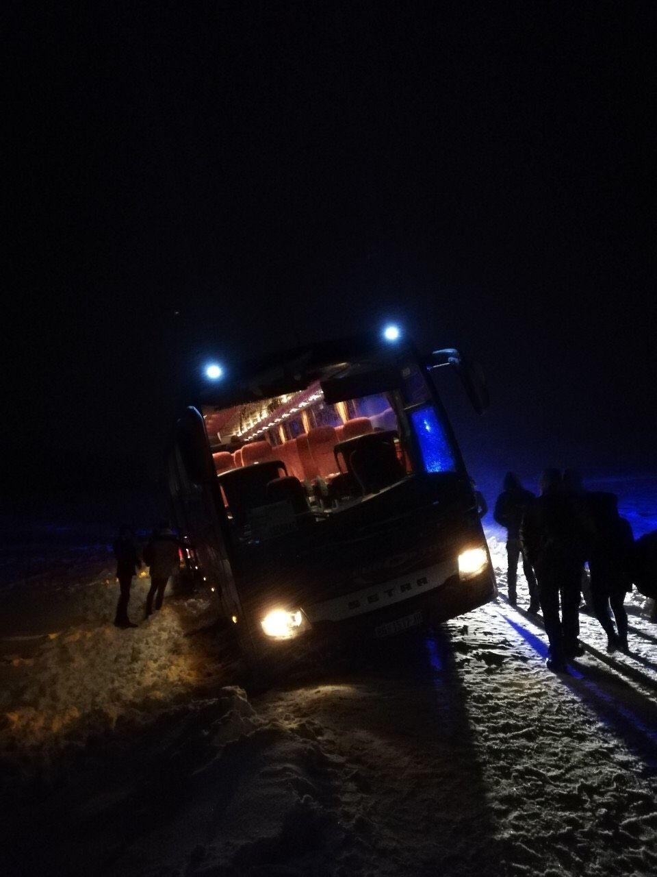 Аутобус у снегу