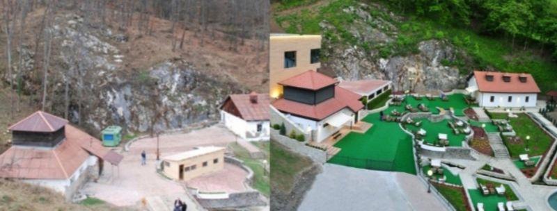 Да се ради о озбиљном инвеститору покузује и пример Прибојске Бање, слика пре и после санације