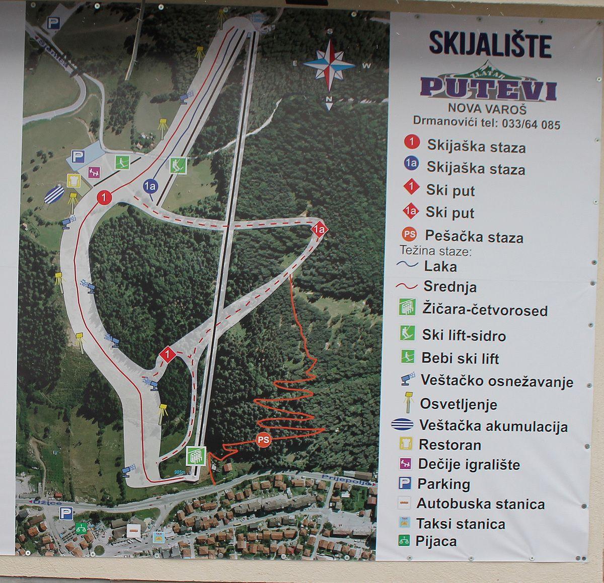 Мапа - користи се само трећина скијалишта
