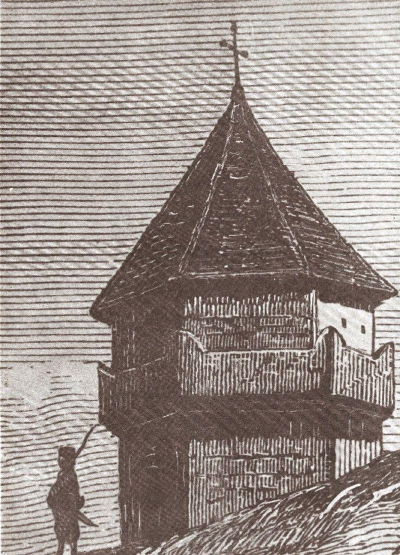 Караула на Дрини Цртеж Ф. Каница