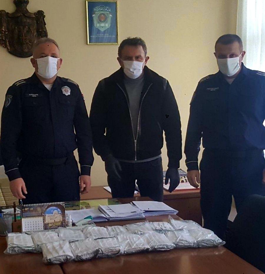 Mаске дељене полици у Новој Вароши