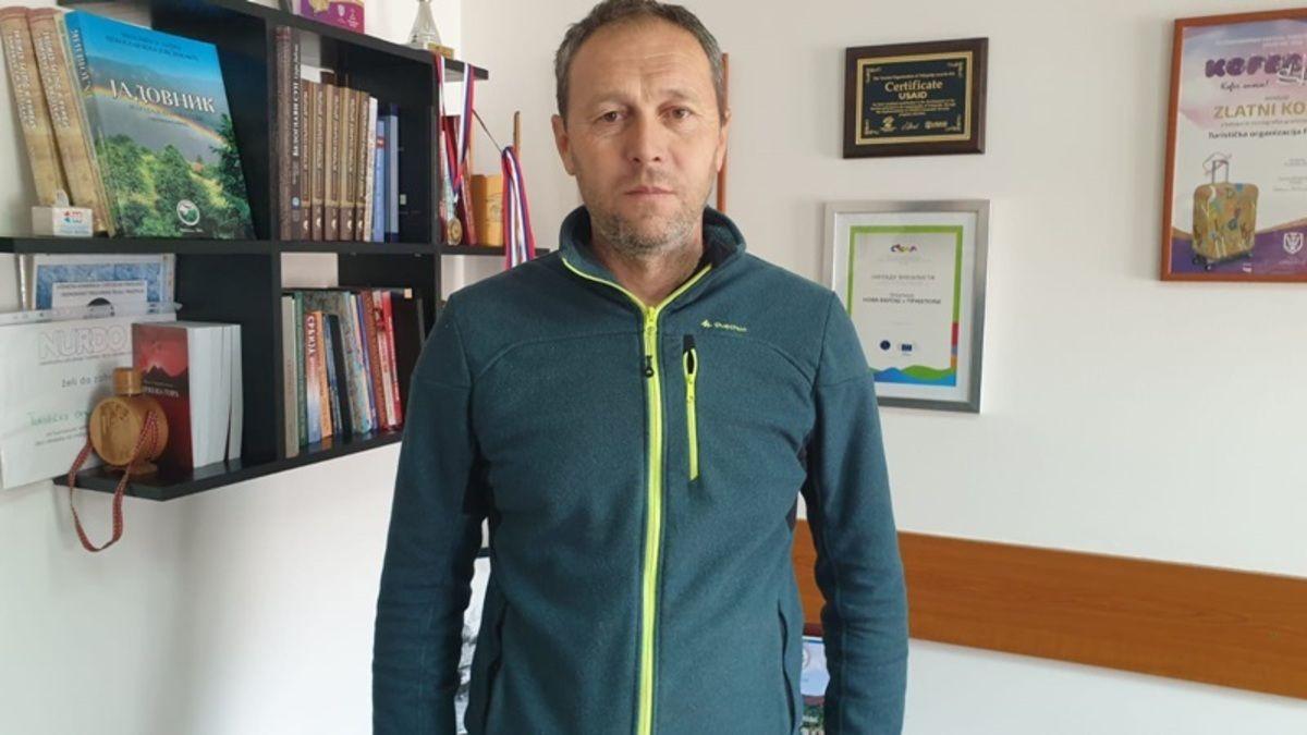 Драгољуб Симовић Симо из Планинарско - сплаварског клуба  Коловрат