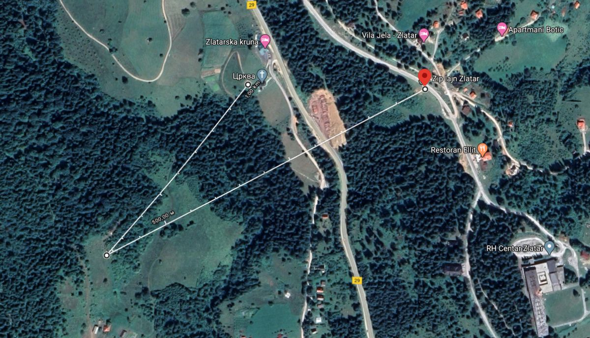 Зип Лајн Златар мапа
