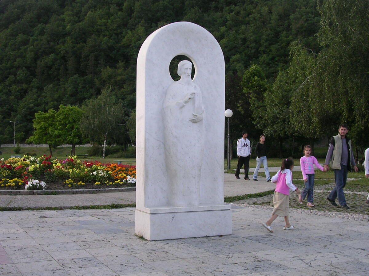Скулптура Светитељ Сава на ушћу  Милешевке у Лим