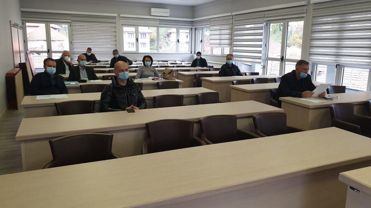 Седница штаба за ванредне ситуације у Пријепољу, фото: ГЗС
