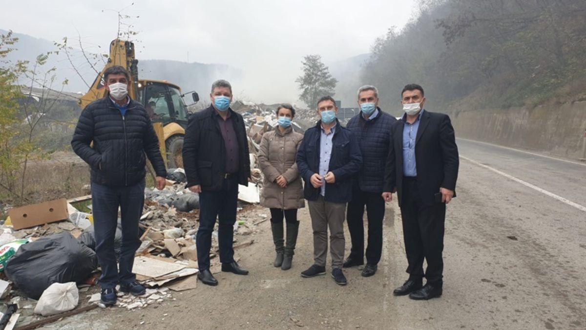 Функционери Пријепоља, локализација пожара  на  депонији Стањевина