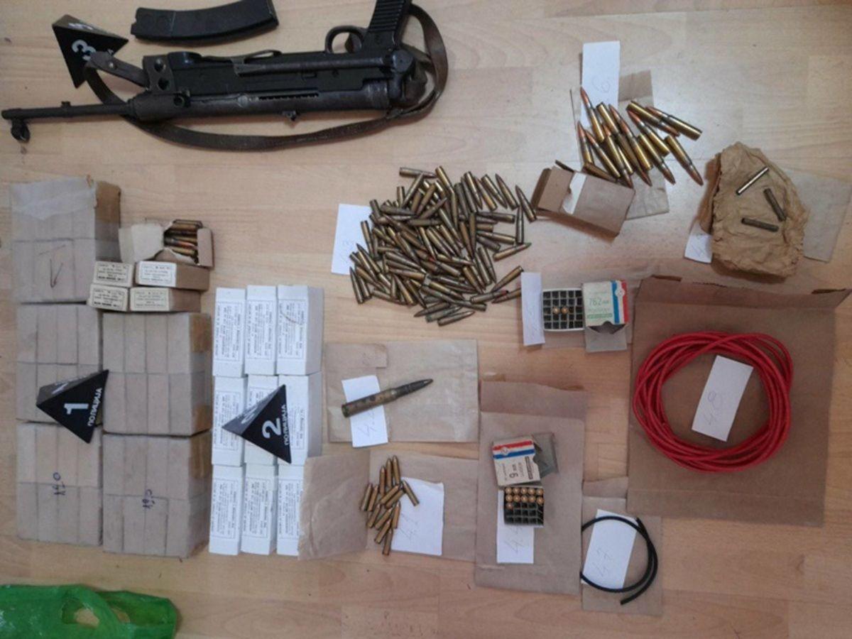 Заплењен арсенал наоружања код Нововарошанина, фото: ПУ Пријепоље