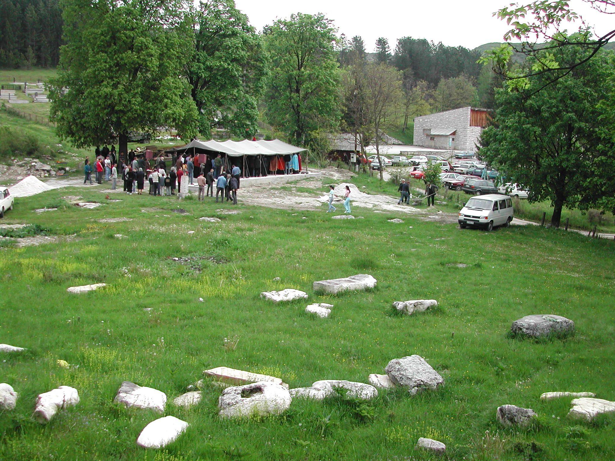 Римски споменици у Радоињи, пре градње цркве
