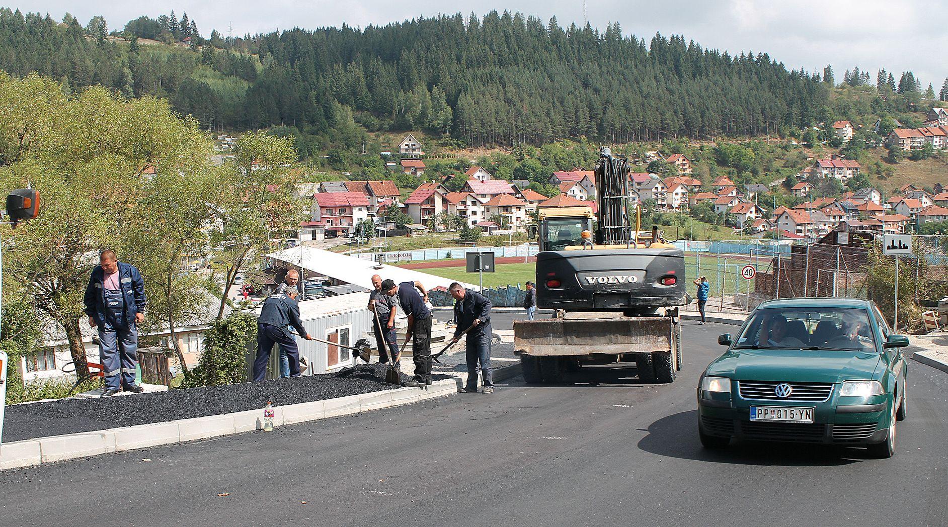 Финиш - последњи метри асфалта код стадиона