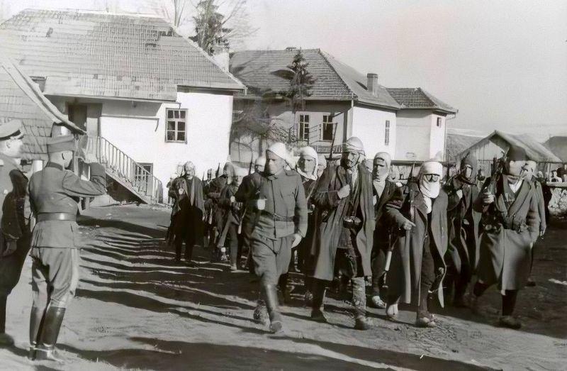 Генерал Стетнер врши смотру муслиманске милиције у Сјеници, 1943. гдине