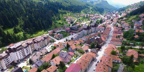 Нова Варош (снимак из ваздуха)