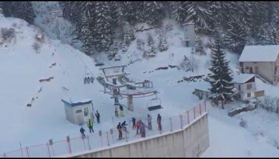 Ski staza Zlatar iz vazduha