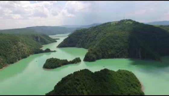 Uvačko jezero (snimak iz vazduha)