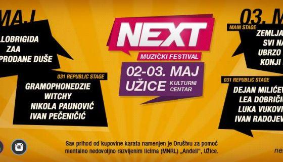 Next muzički festival Užice