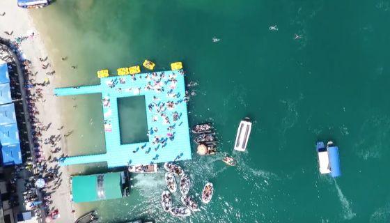 Zlatarsko jezero (snimak iz vazduha)