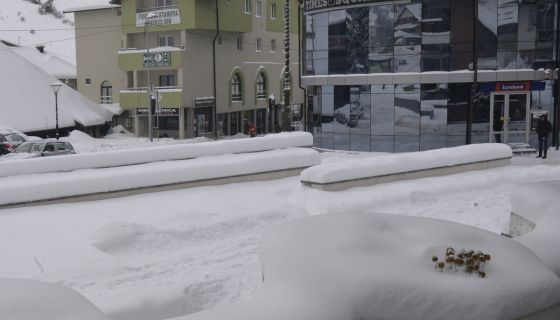 Nova Varoš prekrivena snegom (Zima 2016/2017)