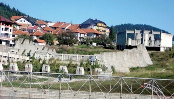 Zidine sportskog centra na Branoševcu